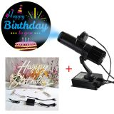 20W LED Gobo Projector (with Happy Birthday Rotating Glass Gobos)+Happy Birthday Neon Sign
