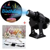 40W Outdoor LED Gobo Projector (with Happy Birthday Rotating Glass Gobos)+Happy Birthday Neon Sign
