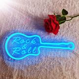 CALCA LED Guitar shape Rock&Roll  Neon Sign , Size- 12.6 X 8.5inches
