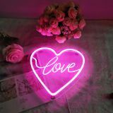CALCA LED Heart shape love Neon Sign, Size- 9.8 X 9.4inches