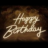 BEL Stock CALCA Happy Birthday Neon Sign for Any Age, Size- 16.5 X 8.3inches+23 X 8inches