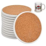 US Stock-144 Pack Sublimation Blanks 4.25 Inch Round Ceramic Tiles Coasters With Cork Backing Pads