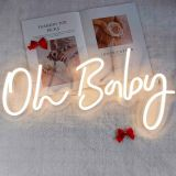 CALCA Warm White Oh Baby Neon Sign,Size- 23.5X 11.8inches