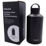 US Stock-CALCA 64oz Wide Mouth Lid Stainless Steel Water Bottle with Double Wall Vacuum Insulated-Travel Cup