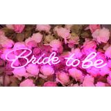 UK Stock, CALCA LED Neon Sign Bride to be ,Integrative Sign Length 6.53X15.63+5.39X11.97inches (Pink)