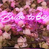 CALCA LED Neon Sign Bride to be ,Integrative Sign Length 6.53X15.63+5.39X11.97inches (Pink)