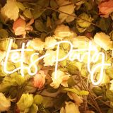 UK Stock, CALCA LED Neon Sign Let´s Party Integrative Sign Size- 23X10inches(Warm white)