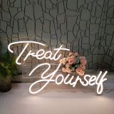 CALCA Warm White Treat Yourself  Neon Sign Led Neon Light Signs 19.7 x 8.3+23.6 x 11.4 inches
