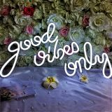 CALCA White good vibes only Neon Signs,Size - 23 x 12.2 inches