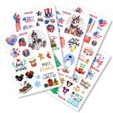 US-Stock A4 Size DTF UV Printing Stickers for Water Bottle,Phone Case,Laptop,Skateboard,Guitar,Wall Window