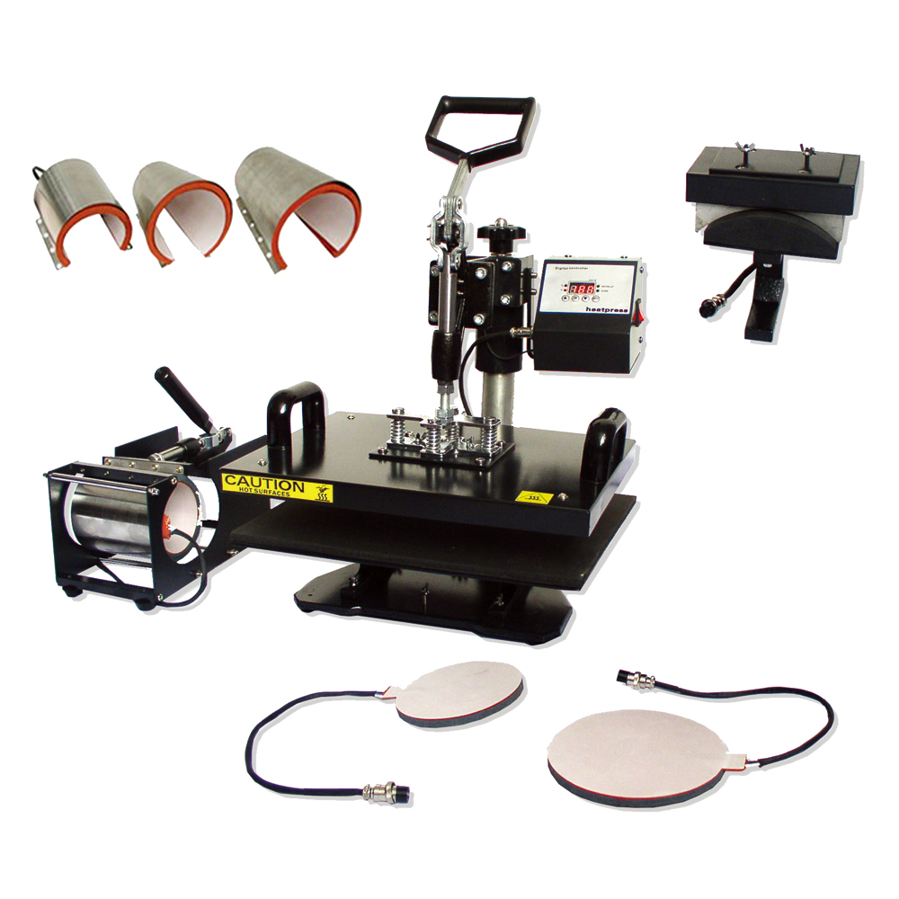 "8 in 1 Combo Heat Press Machine 11.0"" x 15.0"" (280 x 380mm)"
