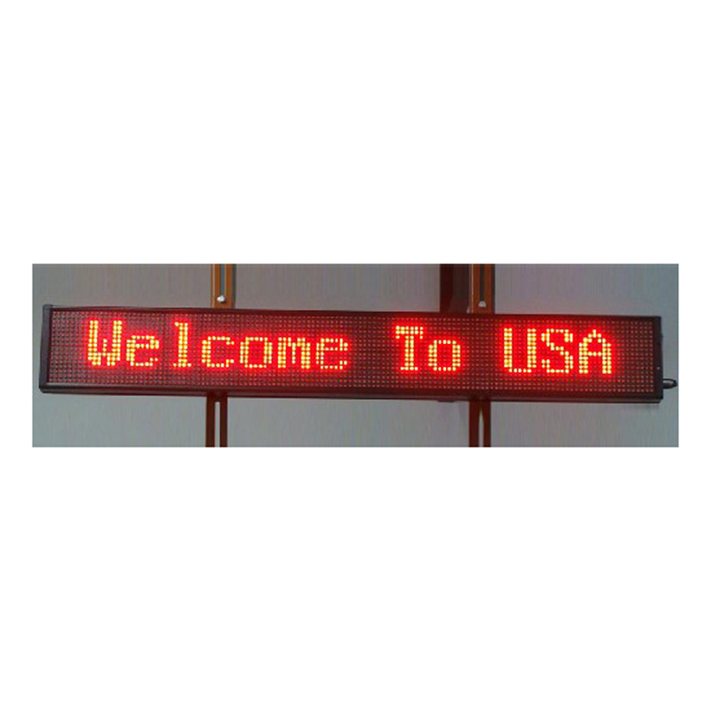 """59"""" x 6"""" Indoor 2 Lines LED Scrolling Sign (Tricolor or Single Color)"""