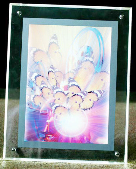 6 Inches Crystal Battery Light Box