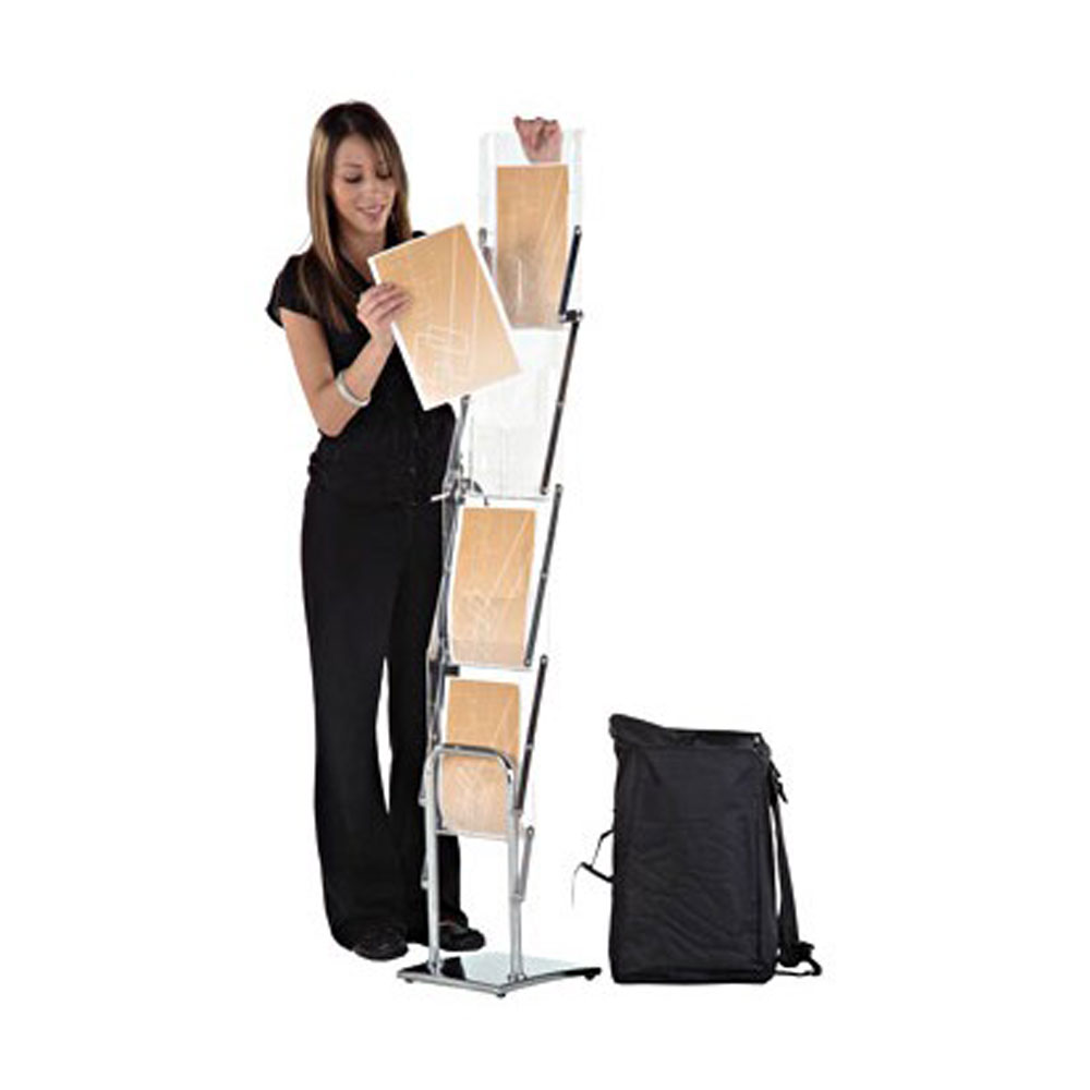 Portable Acrylic Folding Magazine Holder