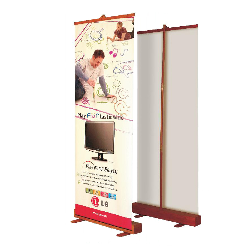 """Roll up Bamboo Banner Stand(developed) 49"""" x 78.8""""(850 x 2000mm)"""