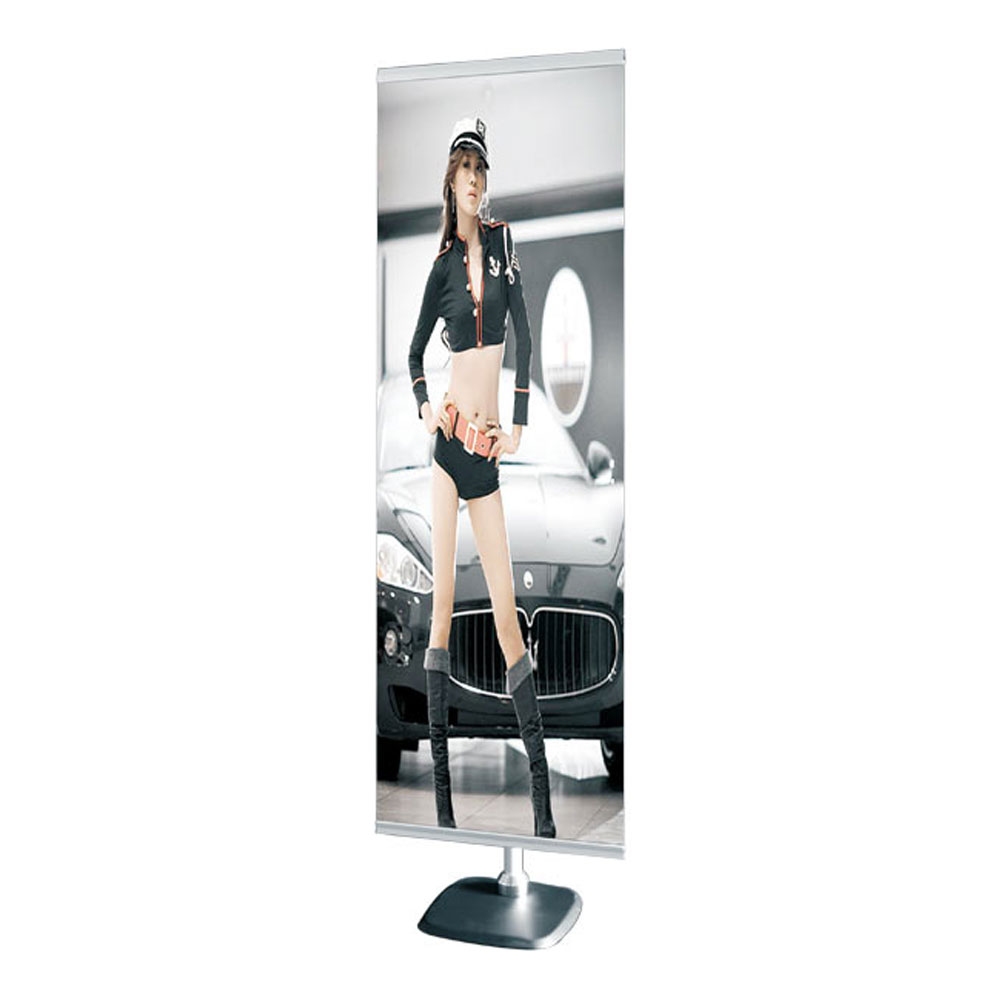 Steel Base Adjustable Poster Banner Stand (Stand only)
