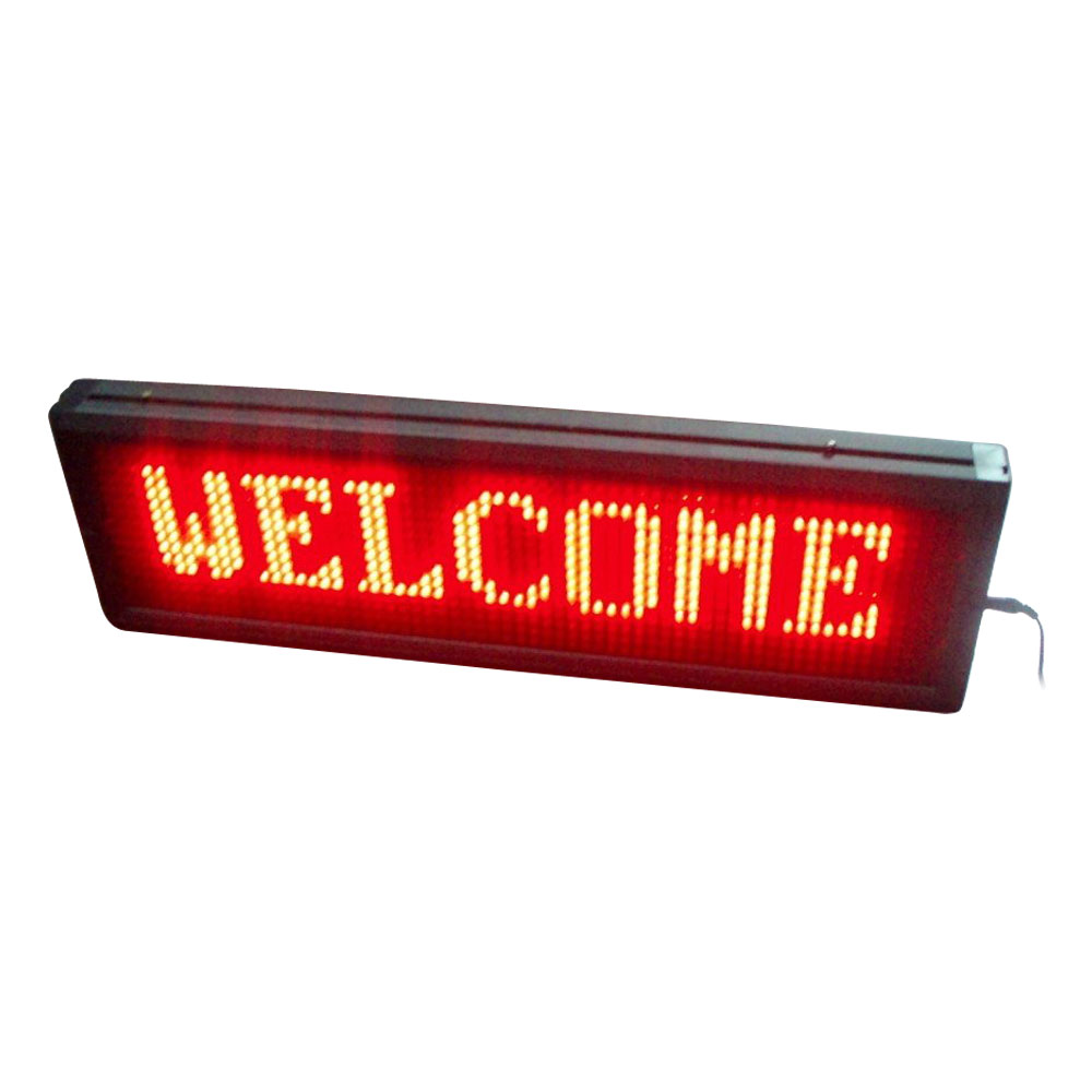 """20"""" x 6"""" Indoor 2 Lines LED Scrolling Sign (Tricolor or Single Color)"""