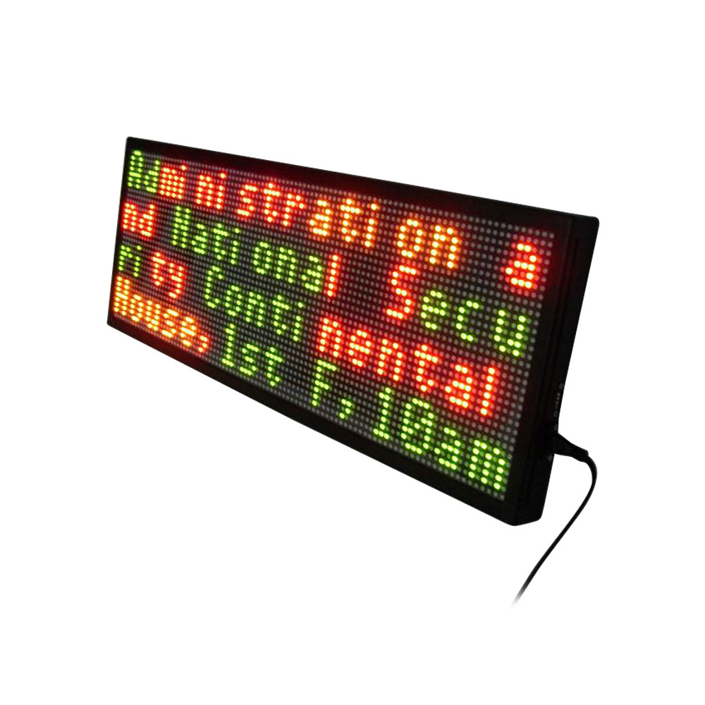 """79"""" x 11"""" Indoor 4 Lines LED Scrolling Sign(Tricolor or Single Color)"""