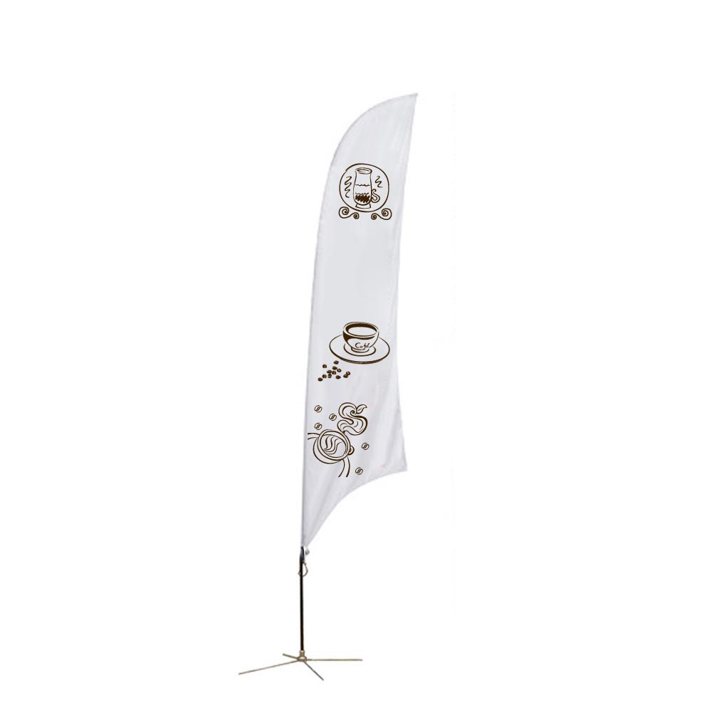 13.1ft Feather Banner with Cross Base (Single Sided Printing)