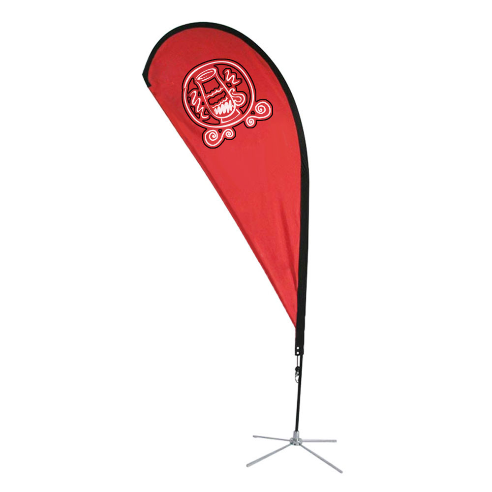 9.8 ft Teardrop Banner with Cross Base (Single Sided Printing)