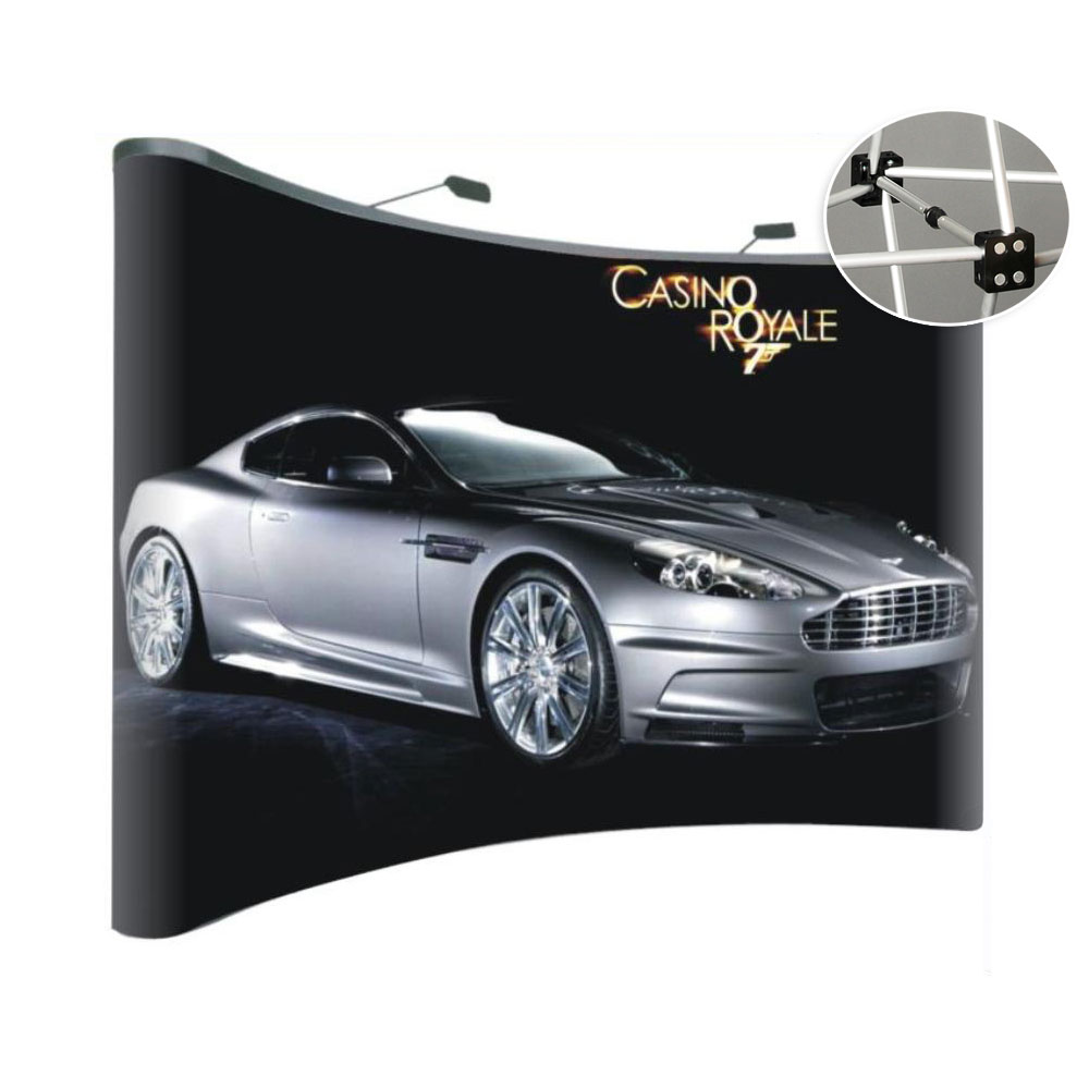 10ft Curved Pop Up Display-Magnetic Connections