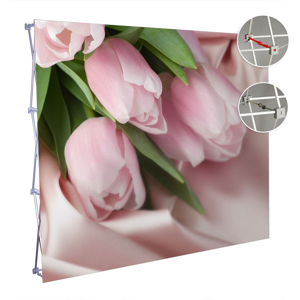 10ft Straight Velcro Pop Up Display(Graphic included)-Magnetic Connections
