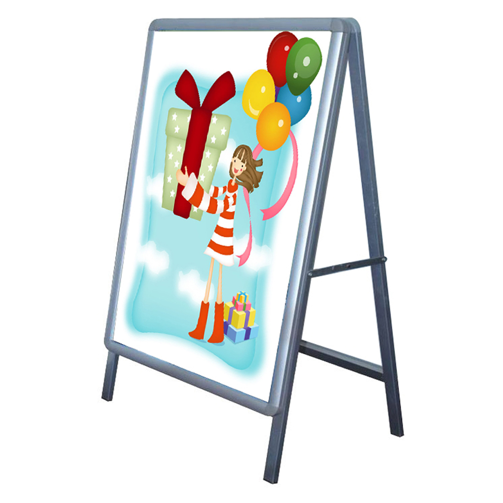 Big Size Single Sided Freestanding 90x120cm A Frame Poster Stand Street Sign Display Board (Frame only)