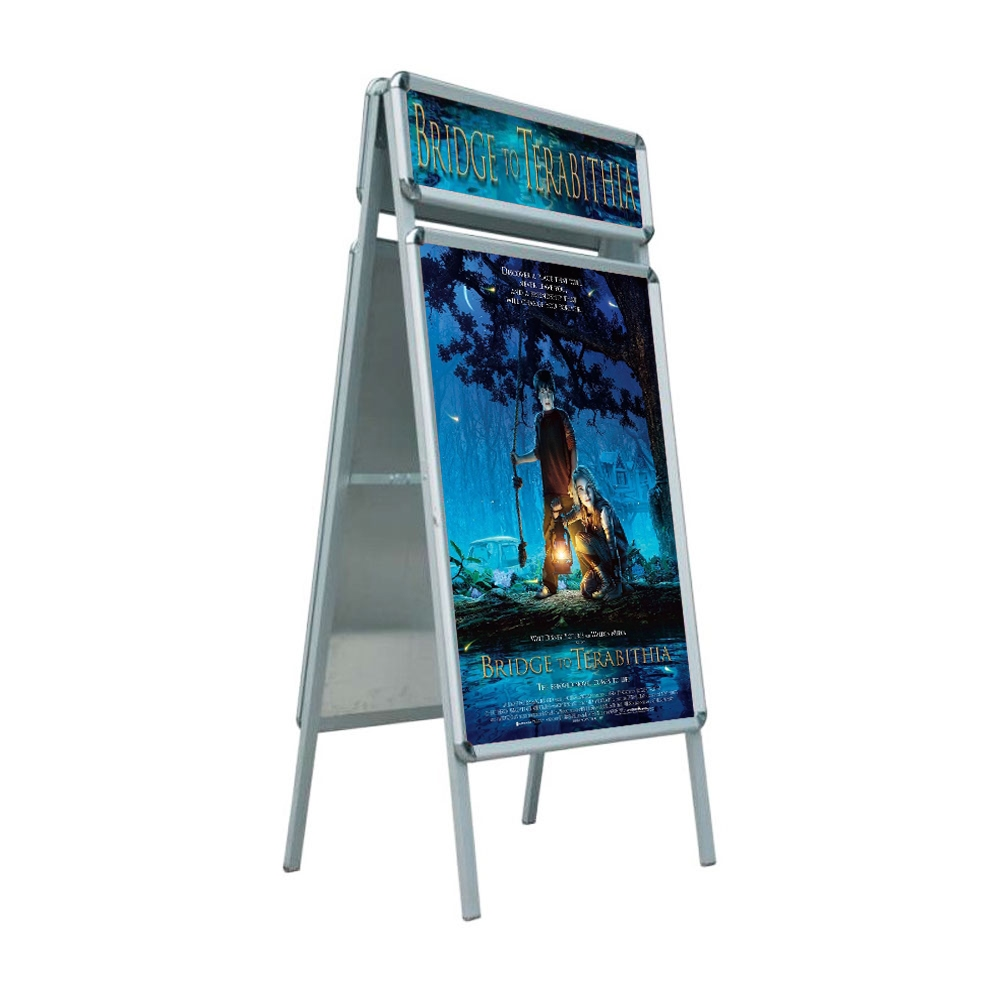 """Double Sided Snap Frame Poster Display Stand with Top Board 23.5"""" x 35.5""""(Frame only)"""