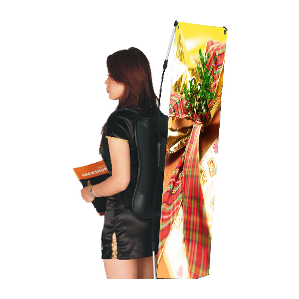 """Backpack X Banner Stand with Graphic Printing 17.7""""W x 47.2""""H ( 45 x 120cm )"""