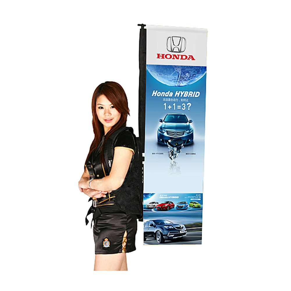 """Backpack L Banner Stand with Graphic Printing 15.7""""W x 49.2""""H ( 40 x 125cm )"""