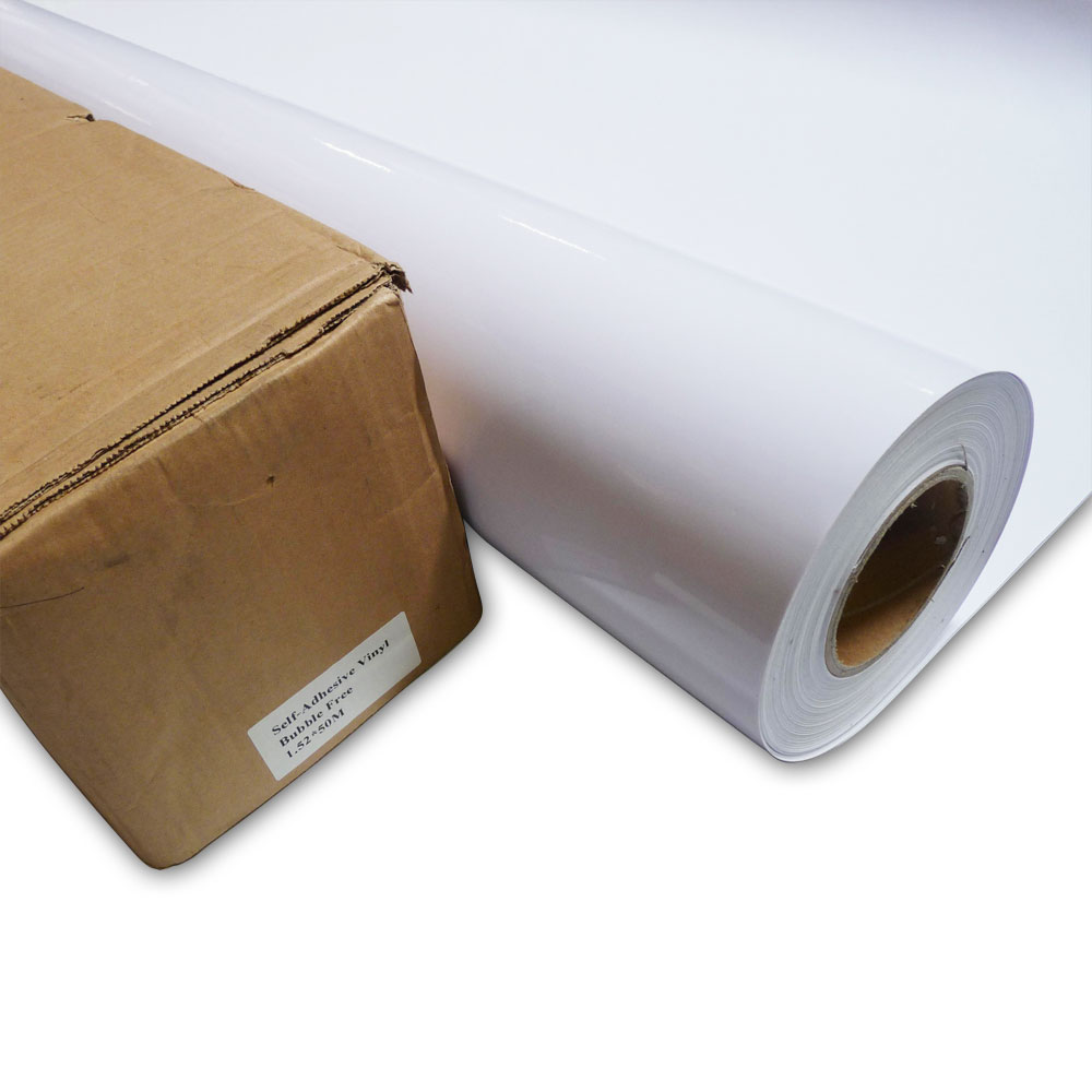 "50"" (1.27m) High Quality White Glue Self-adhesive Vinyl Film / Vehicle Wrap"