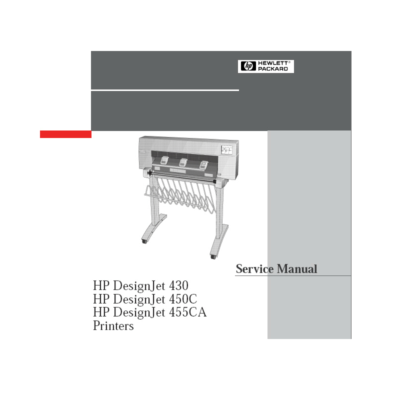 HP Designjet 430 450C 455CA Plotter English Service Manual/Maintenance Manual(Direct Download)