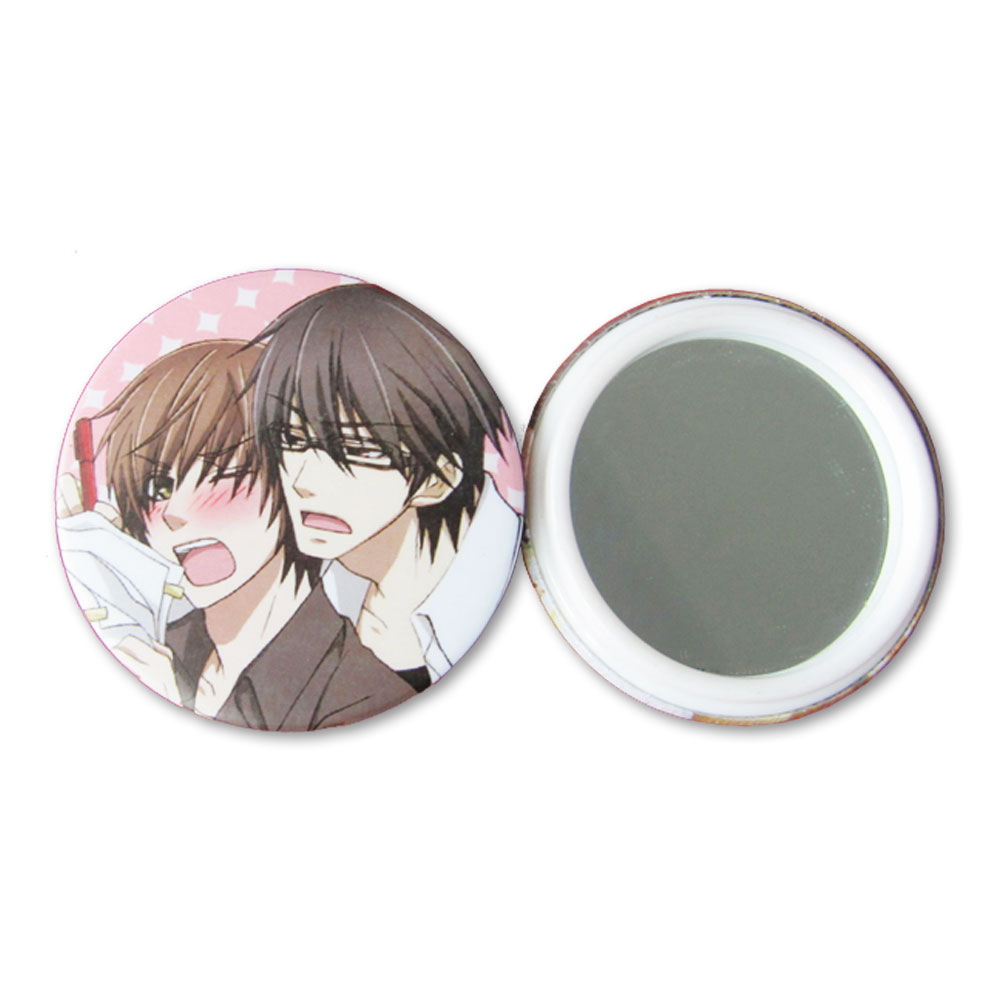 1000pcs 58mm Mirror Button with Plastic Ring