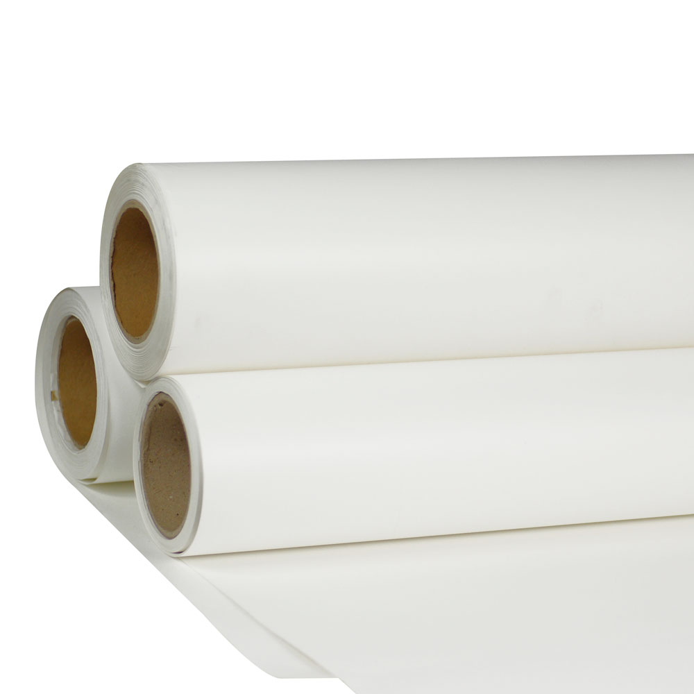 """Sample-24"""" x 98´ Roll White Color Print and Cut Heat Transfer Vinyl For T-shirt Fabric"""