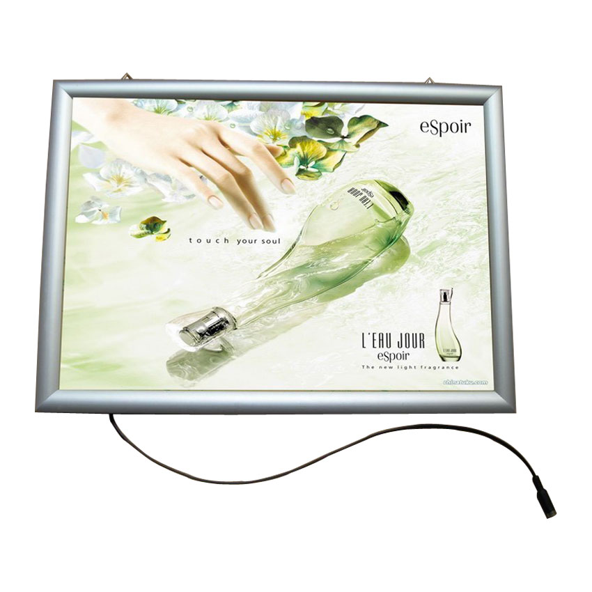 """A4 (11.7"""" x 8.3"""") 0.7"""" Curved Snap Frame LED Slim Light Box (Without Printing)"""