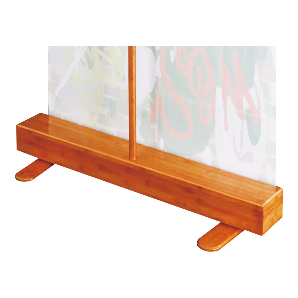 "Good Quality Bamboo Roll Up Banner Stand (33"" W x 79"" H) (Stand Only)"