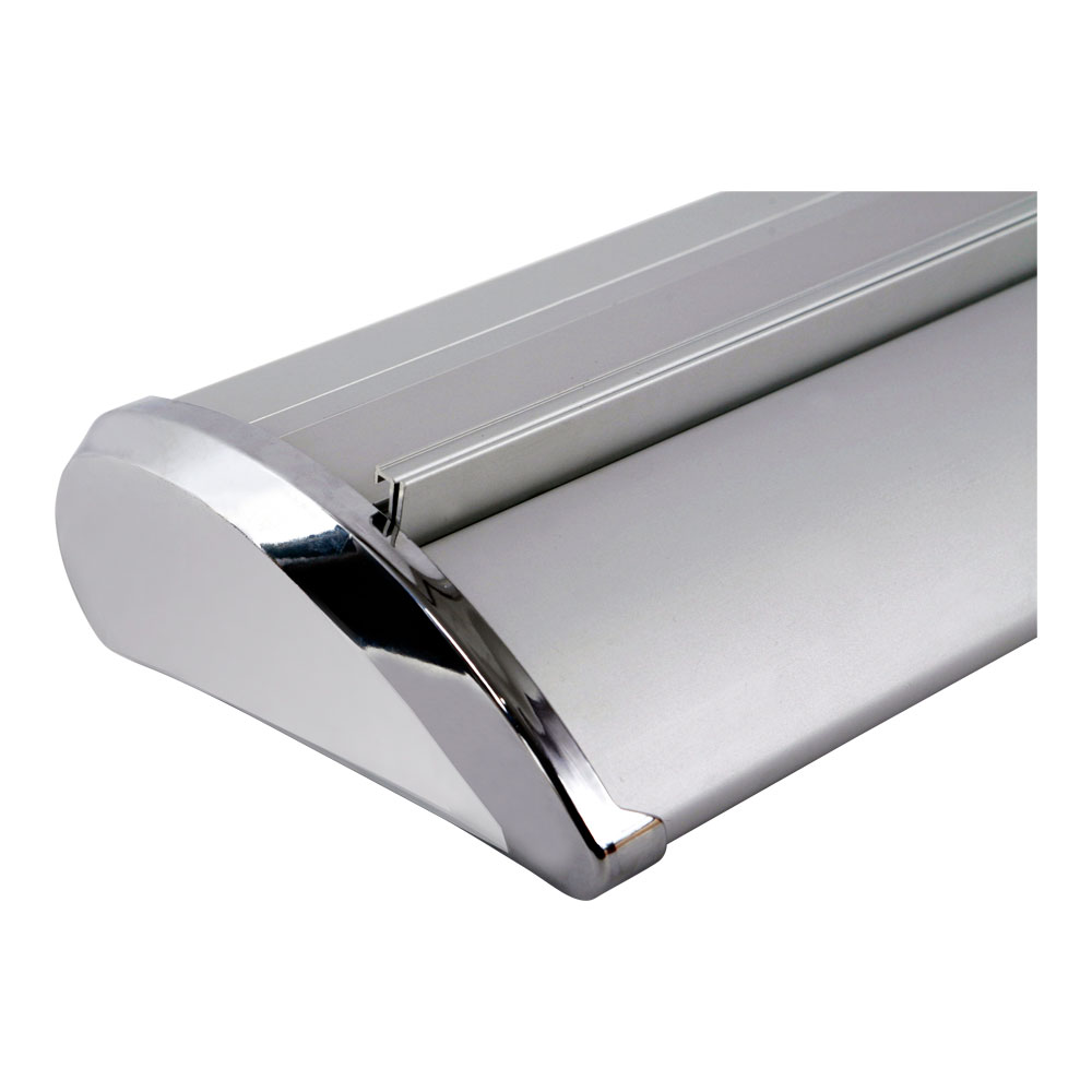 """39"""" W x 79"""" H Silver Cap Broad Base Roll Up Banner Stand (Stand Only)"""