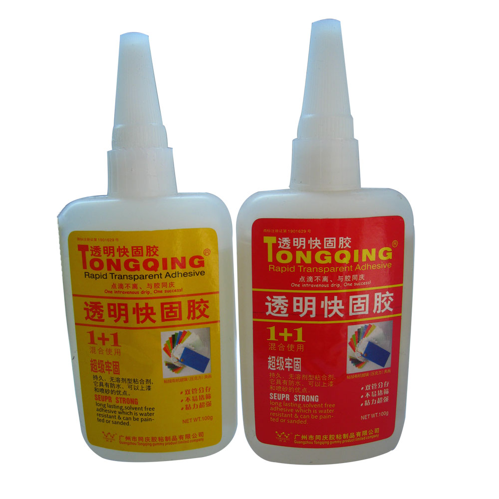 Rapid Transparent Adhesive 1+1 For Sticking Acryl Leather Metal Textile 200gx10sets