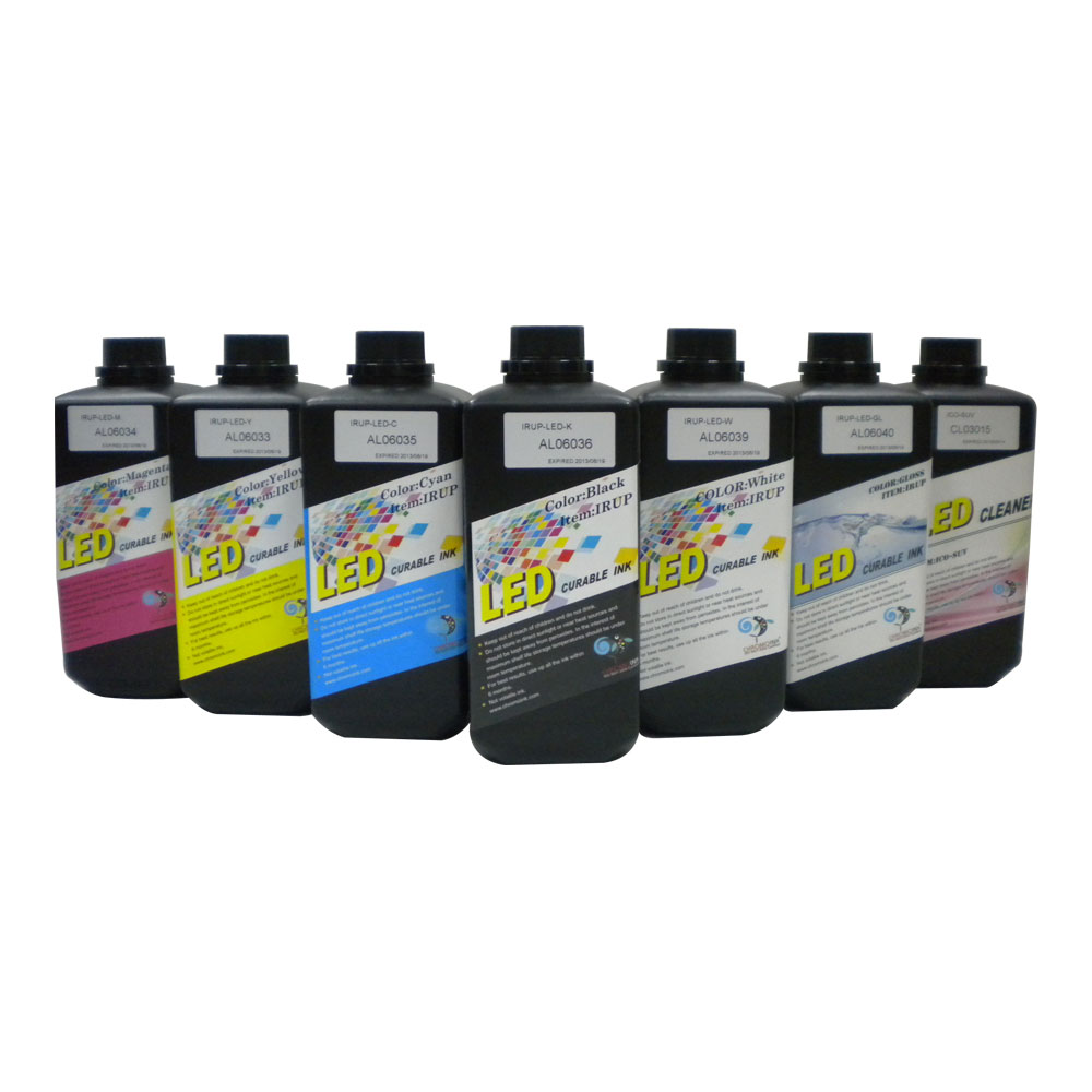 CRM Flat Media LED UV Curable Ink for Epson DX5 DX7 Printhead Printer