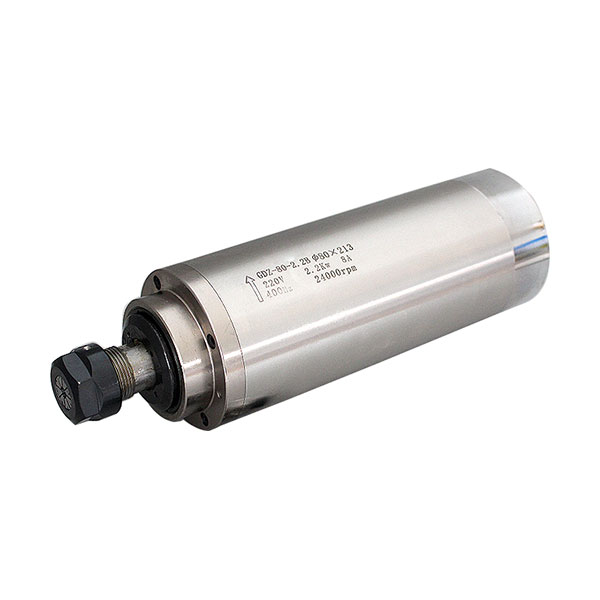 2.2KW 24000rpm Water Cooled Spindle Motor for CNC Engraving Milling Grinding, 220V, Dia. 80 x 213mm