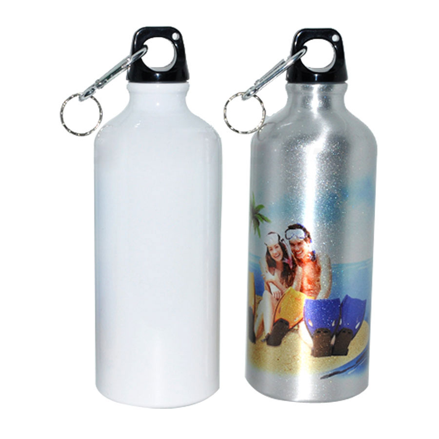 """500ml Blank Aluminum Sports Bottle for Sublimation Printing Dia 2.83"""""""
