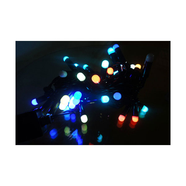 AC220V Color Changing 50LED Sharp Ball 16 Feet String for Christmas XMAS Party