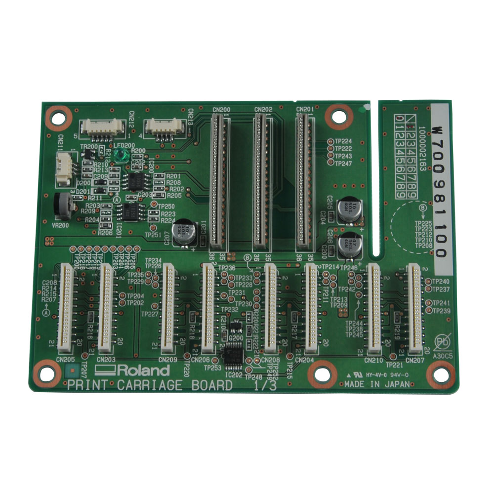 Original Roland RS-640 Print Carriage Board - W700981110