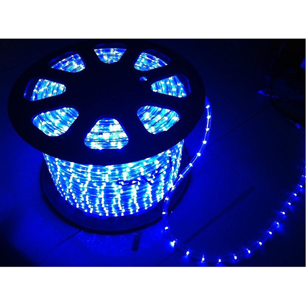 AC110V/220V High Voltage Rainbow Tube LED Rope Lights with Round Wire 18 LEDs/M, 100m(328ft)/roll/pack