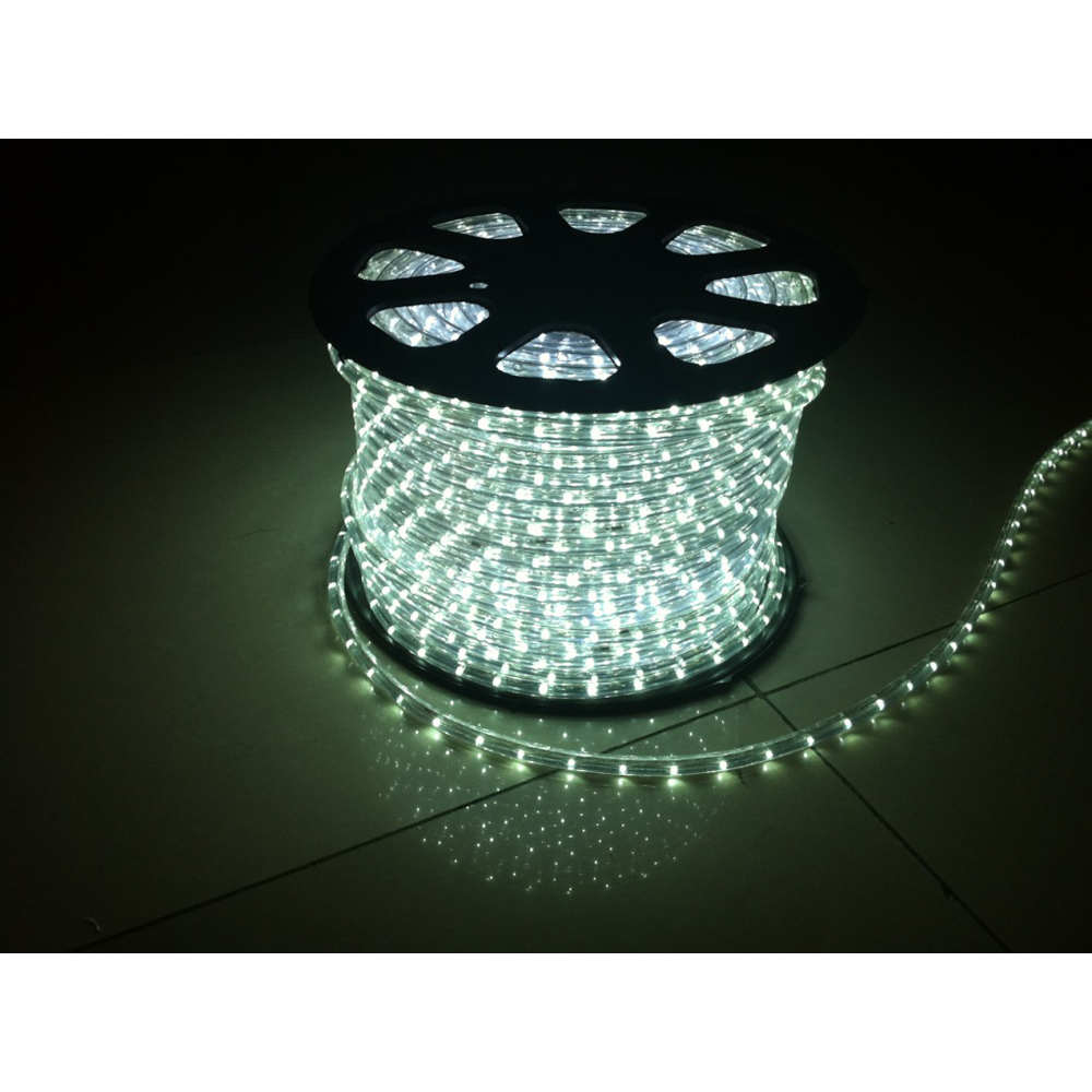 AC110V/220V High Voltage Rainbow Tube LED Rope Lights with Round Wire 30 LEDs/M, 100m(328ft)/roll/pack
