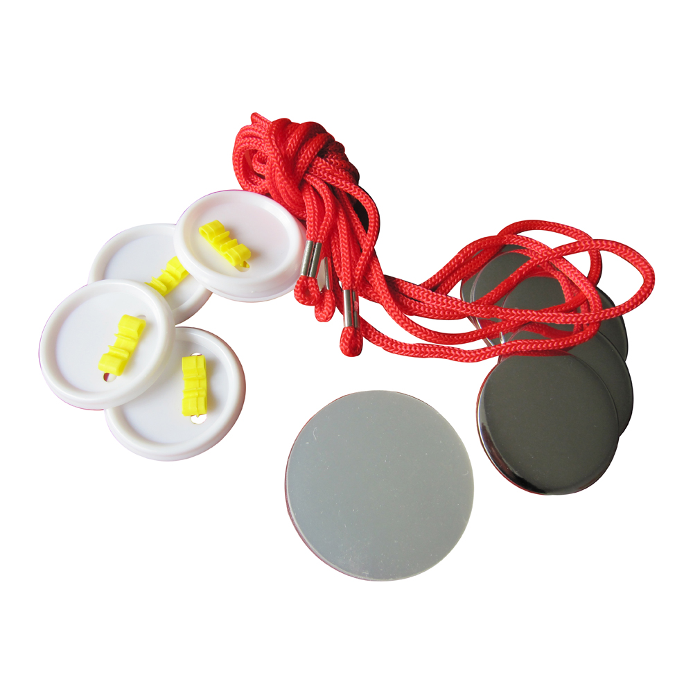 1000pcs Blank 44mm Rope Tie Button Supplies
