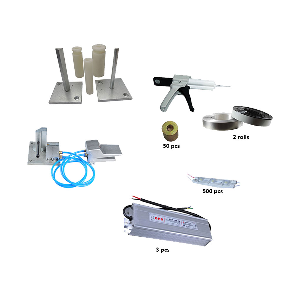 Alumimum Channel Letter Making Starter Sets (Include bender tools, aluminum coil, LED Module, power supply)