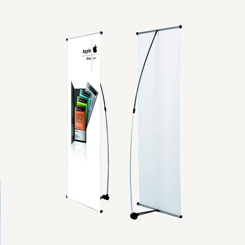 60 x 180cm Economical One-piece Base and Pole L Banner (Graphic Included)