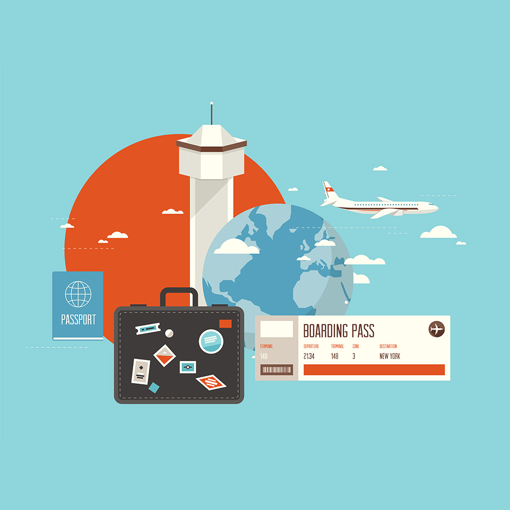 Businesstrip Corporate Travel Flat Vector Poster (Free Download Illustrations)