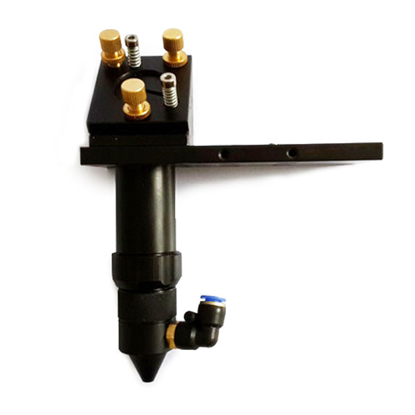 """CO2 Laser Cutting Head with Air Assist and Laser Dot Frame for Installing Dia 20mm Lens and Dia 25mm / 1"""" Mirror"""